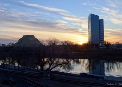 Sunset Over West Sacramento