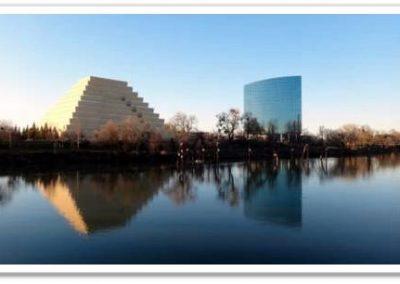 Sacramento Riverfront Ziggurat Building